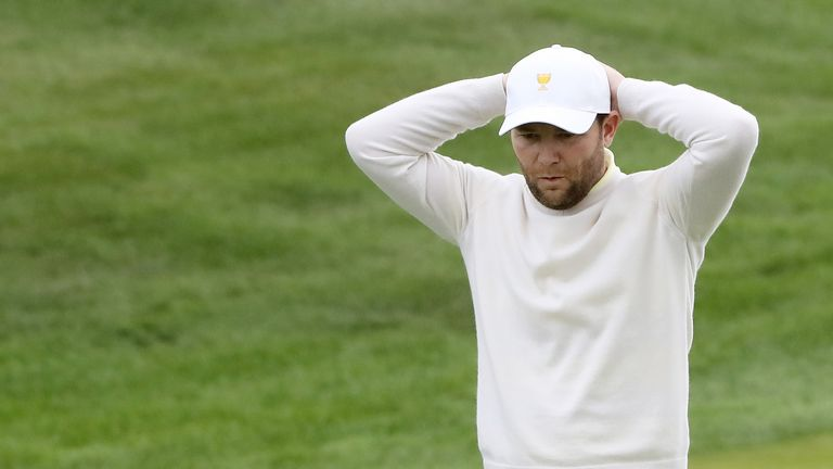 Branden Grace was unable to halt the American charge on Saturday