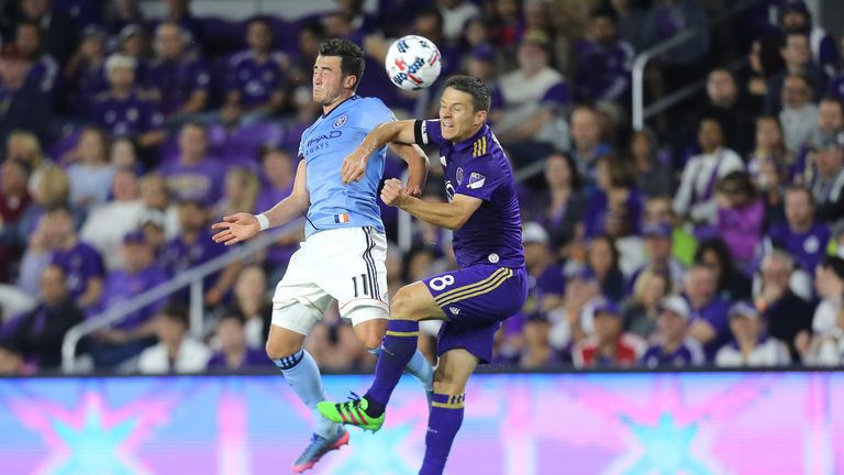 Jack Harrison in action for New York City
