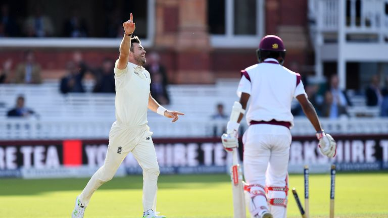 Braithwaite had his middle stump knocked back by Anderson during the second evening at Lord's