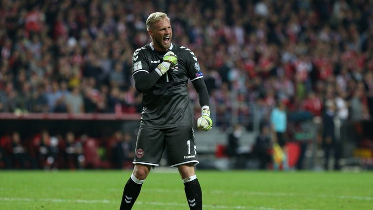 Kasper Schmeichel and Denmark were beaten by Sweden in the Euro 2016 play-offs