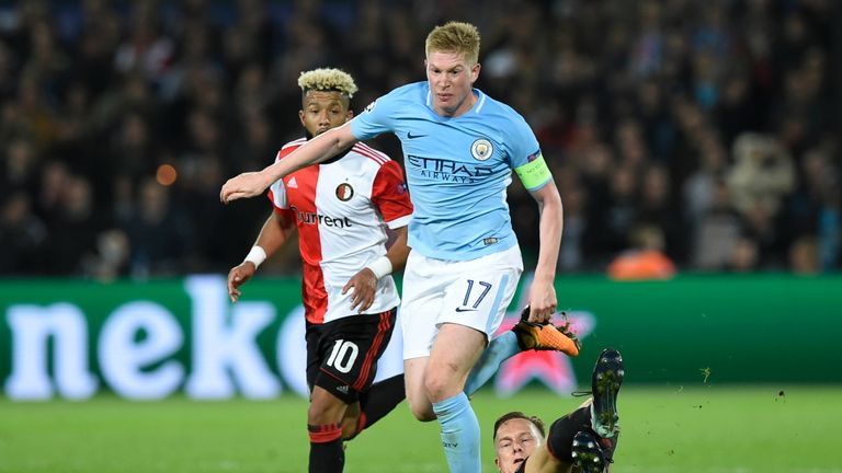 De Bruyne was superb for City in their win at Feyenoord
