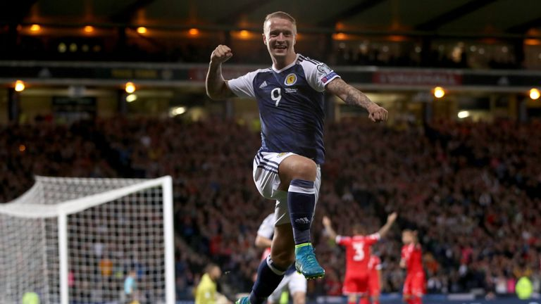 Leigh Griffiths and his Scotland side face Slovakia