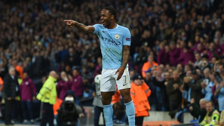 Sterling's purple patch has seen him score five goals so far this season for City