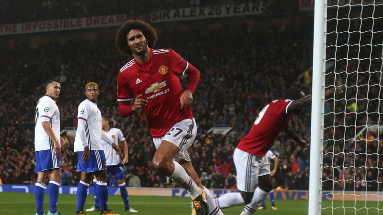 Marouane Fellaini came off the bench to score for United