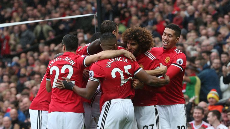 Fellaini has scored four goals in his past five games for United