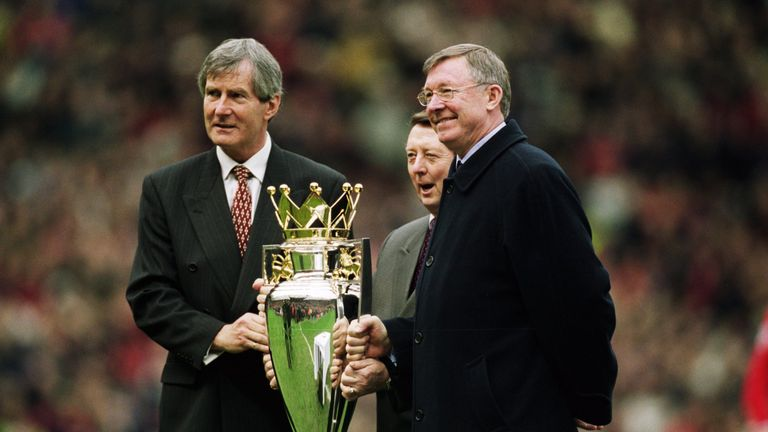Martin Edwards and Sir Alex Ferguson won eight Premier League titles together at Manchester United