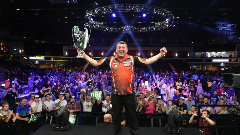 Mensur Suljovic claimed the Champions League title with victory over Gary Anderson