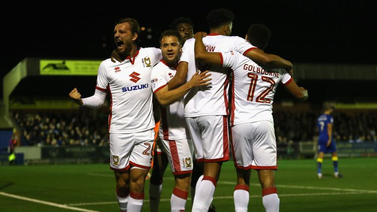 MK Dons were 2-0 winners away to AFC Wimbledon on Friday night