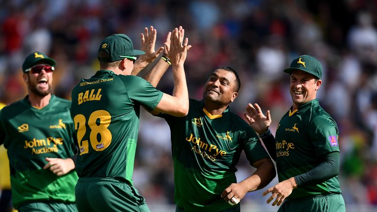 Patel took the key wicket of Shahid Afridi in the semi-final against Hampshire