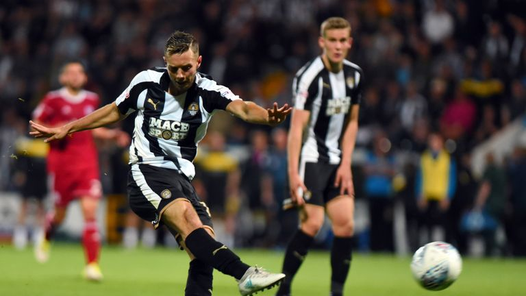 Jorge Grant scored for Notts County on Tuesday evening