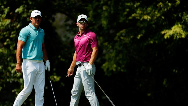 Koepka and Casey posted matching 66s while playing alongside eachother.