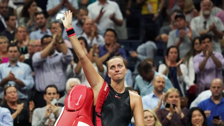 Petra Kvitova bowed out after another gutsy performance