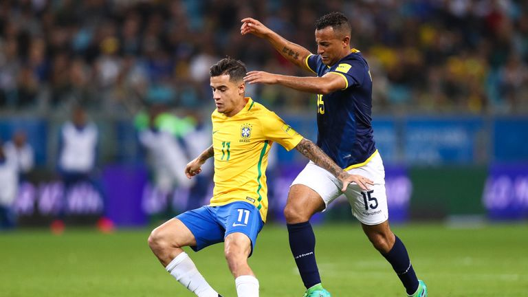 Coutinho could play for Brazil against England at Wembley next week