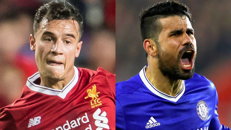 Philippe Coutinho and Diego Costa were seeking moves away from their clubs