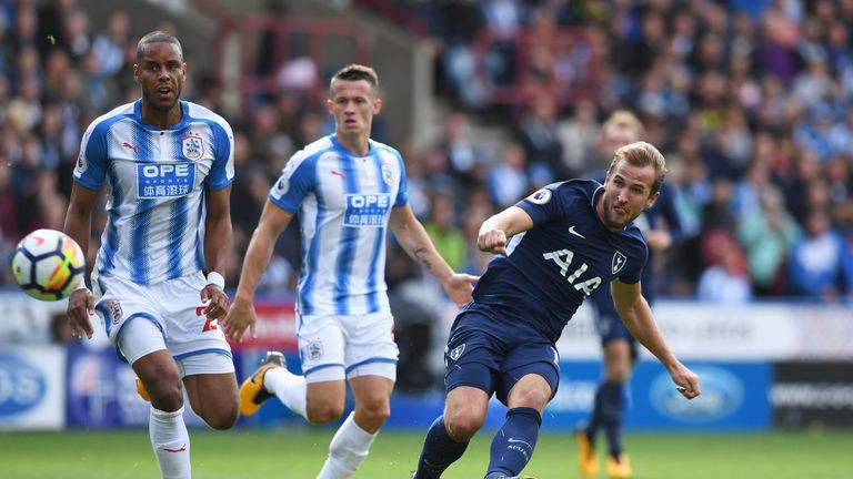 Kane curls in his second goal at the John Smiths Stadium