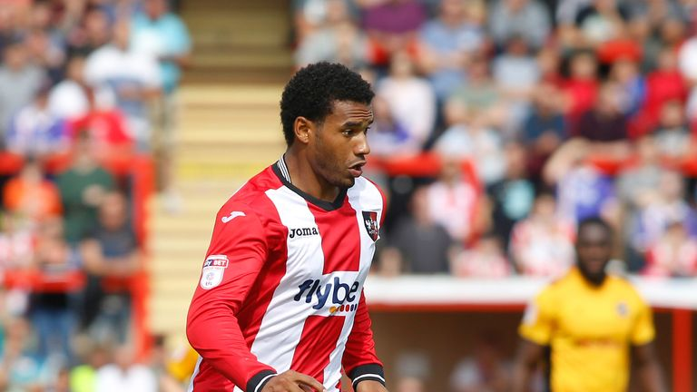 Exeter City's Reuben Reid