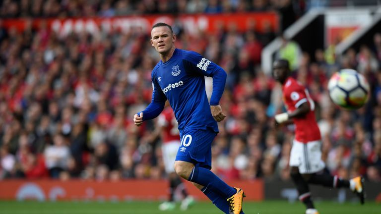 Wayne Rooney was substituted during Everton's win over Bournemouth due to a facial injury