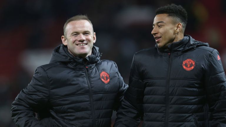 Jesse Lingard says he learned a lot from Wayne Rooney from their time together at Manchester United