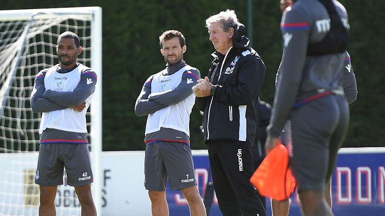 Hodgson took training for the first time at Crystal Palace on Wednesday (pic courtesy of cpfc.co.uk)
