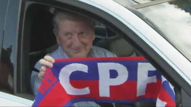 Hodgson on his first day at Crystal Palace