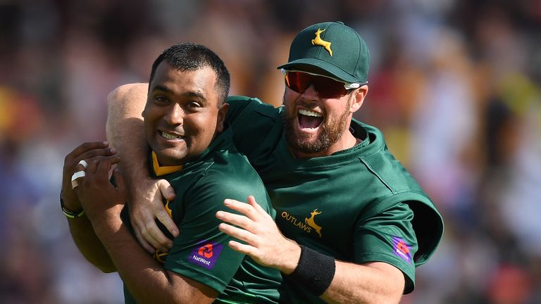 Samit Patel starred for Nottinghamshire as they won the NatWest T20 Blast