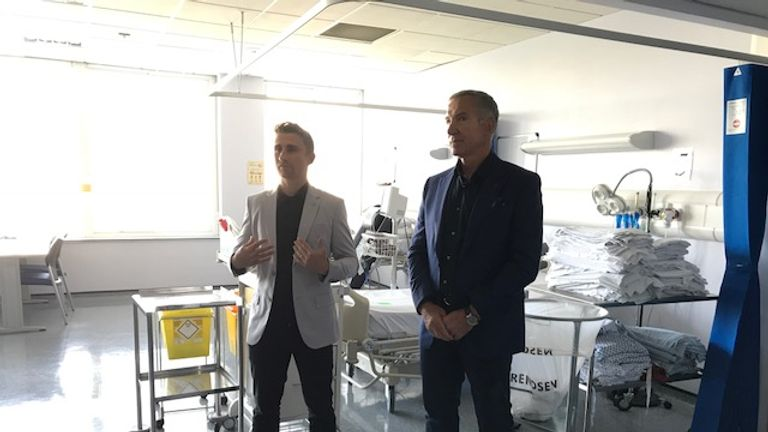 James Taylor (with Sky Sports football pundit Graeme Souness) has worked to raise awareness around heart-related illness since his retirement