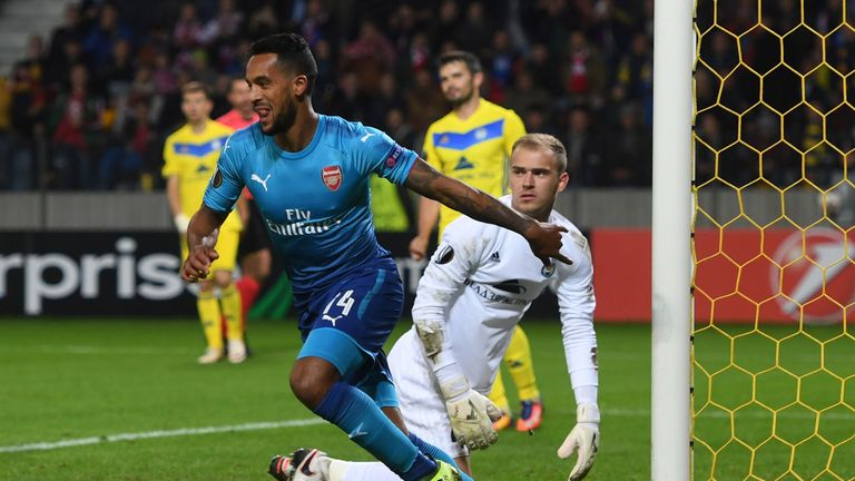 Arsenal beat BATE Borisov 4-2 when the sides met in the reverse fixture