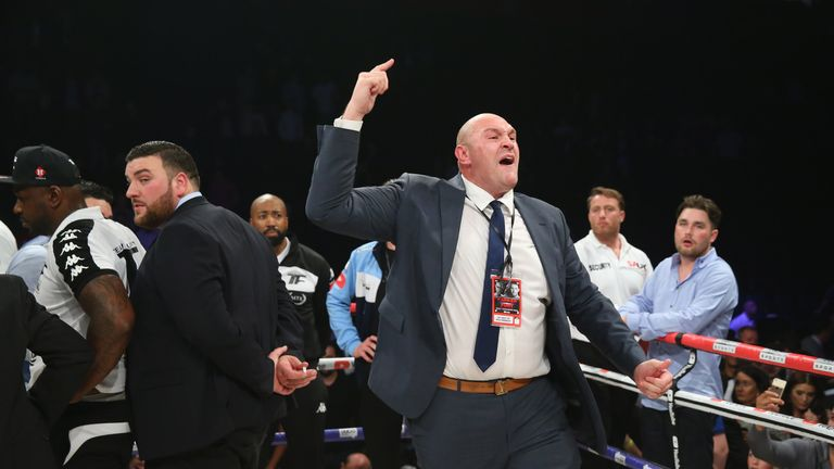 Tyson Fury complains after Hughie Fury lost to Joseph Parker