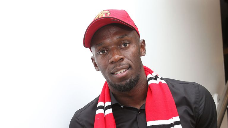 Usain Bolt believes Manchester United are favourites to win the Premier League