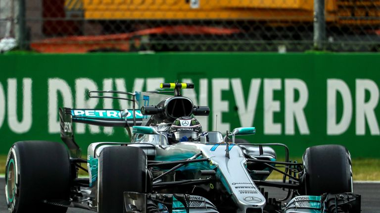 Lewis Hamilton runs wide onto gravel in second Italian Grand Prix practice