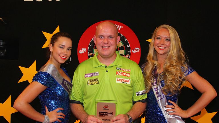Michael van Gerwen beat Rob Cross to win the German Darts Grand Prix on Sunday