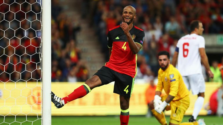 Kompany has not featured for Belgium since their win over Gibraltar