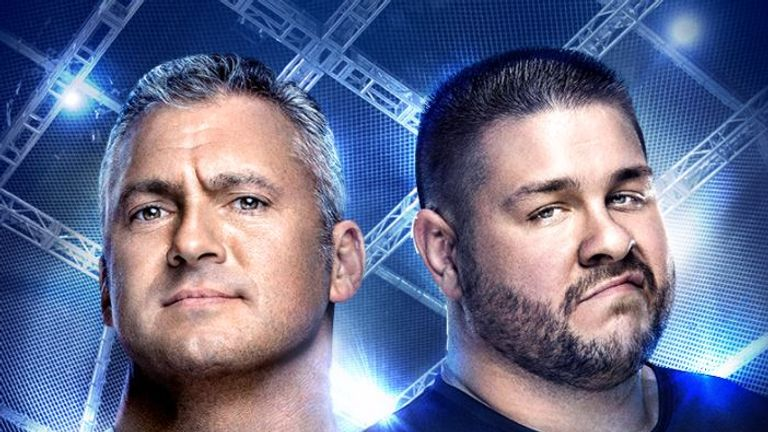 Shane McMahon goes flying at Hell in a Cell