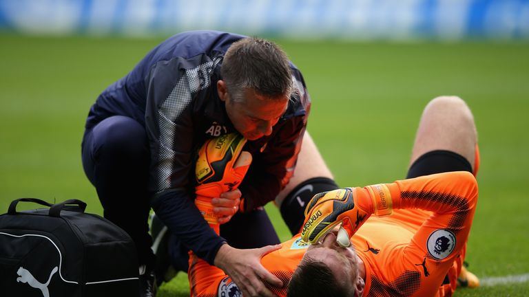 Heaton needed treatment before being replaced by Nick Pope