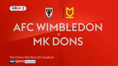 AFC Wimbledon 0-2 MK Dons
