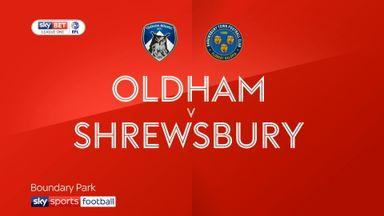 Oldham 1-2 Shrewsbury