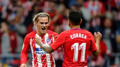 Antoine Griezmann scored the only goal of the game at the new stadium