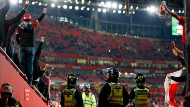 Extra police were deployed at Emirates Stadium after fan disorder before kick-off