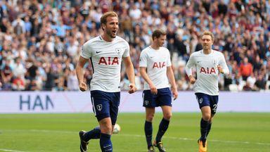 Harry Kane scored twice at the London Stadium on Saturday
