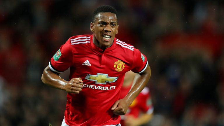 Anthony Martial has netted four times this season for United