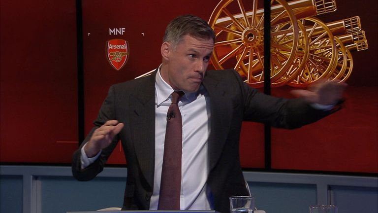 Jamie Carragher shows Simon Mignolet how to deal with threats from corners