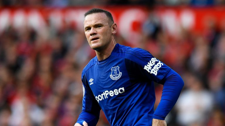 MANCHESTER, ENGLAND - SEPTEMBER 17: Wayne Rooney of Everton looks on during the Premier League match between Manchester United and Everton at Old Trafford