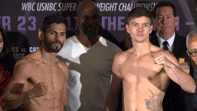 Jorge Linares Luke Campbell weigh in