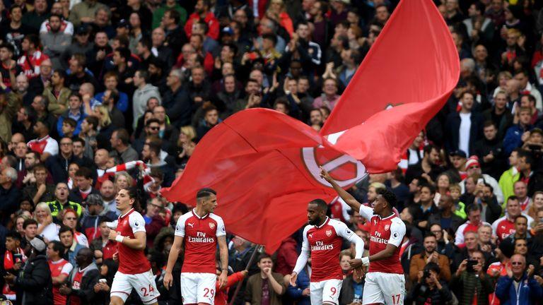 Alex Iwobi scored Arsenal's second after a slick move