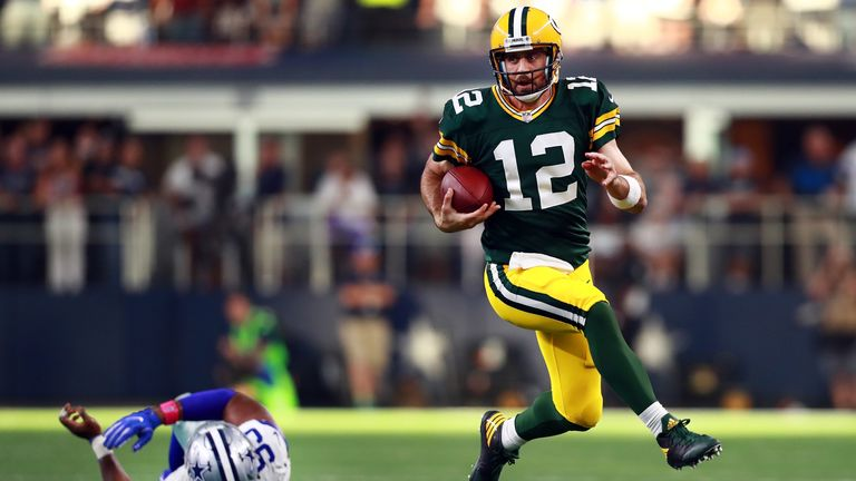 Aaron Rodgers broke his collarbone in week six of the season against Minnesota Vikings