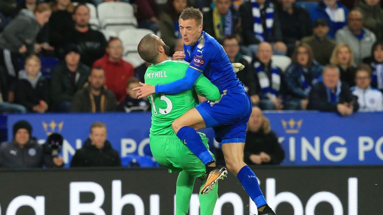 Boaz Myhill was injured during a collision with Jamie Vardy