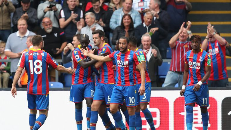 Yohan Cabaye's deflected touch opened the scoring at Selhurst Park