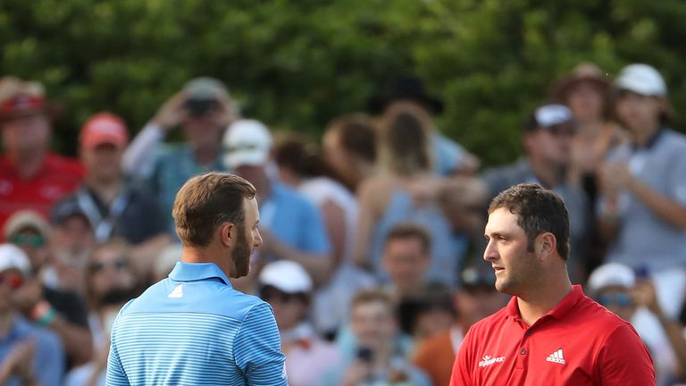 Dustin Johnson and Jon Rahm play alongside Hideki Matsuyama in Shanghai