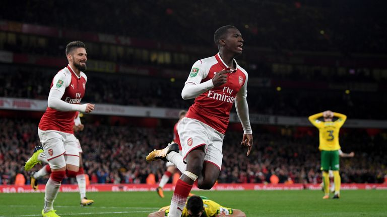 Arsenal secure three starlets on long term deals including Eddie Nketiah