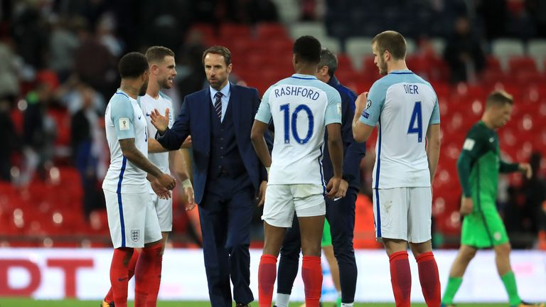 England manager Gareth Southgate after the final whistle